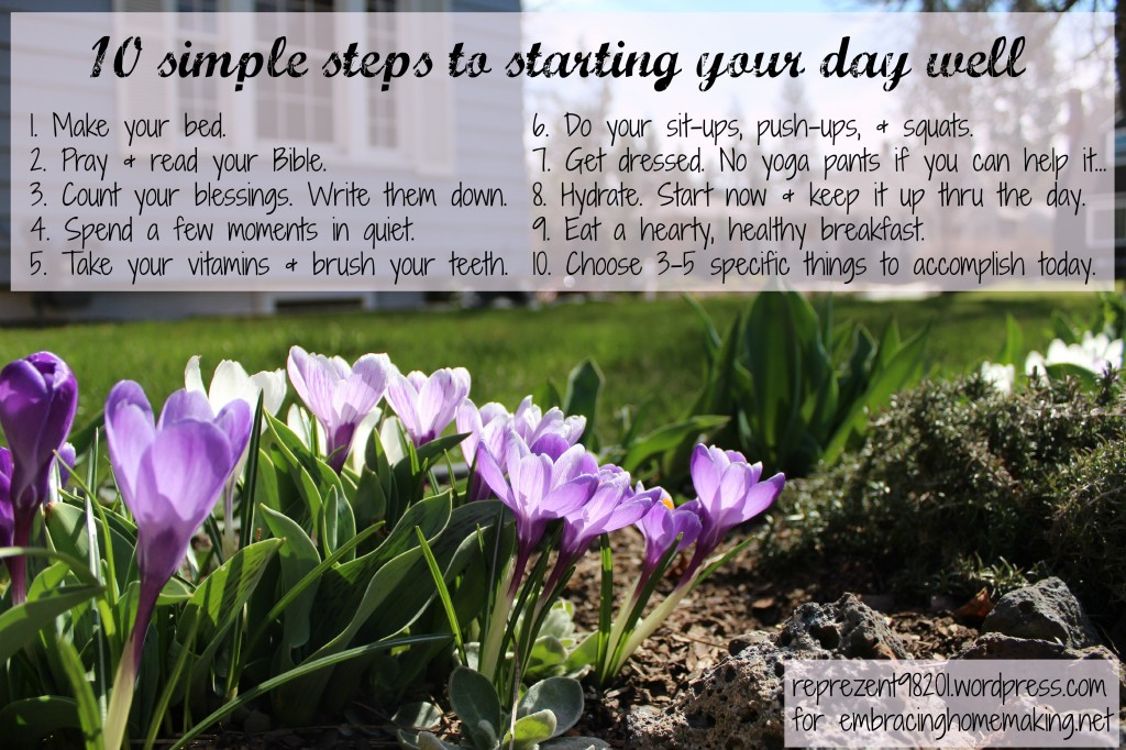 10 steps to starting your day well