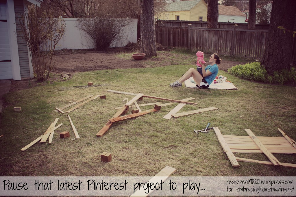 Pause that pinterest project
