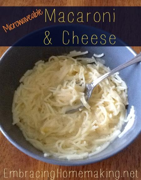 Homemade Microwaveable Macaroni and Cheese