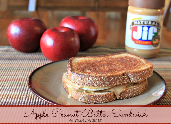 Apple Peanut Butter Sandwich Recipe % | Embracing Homemaking