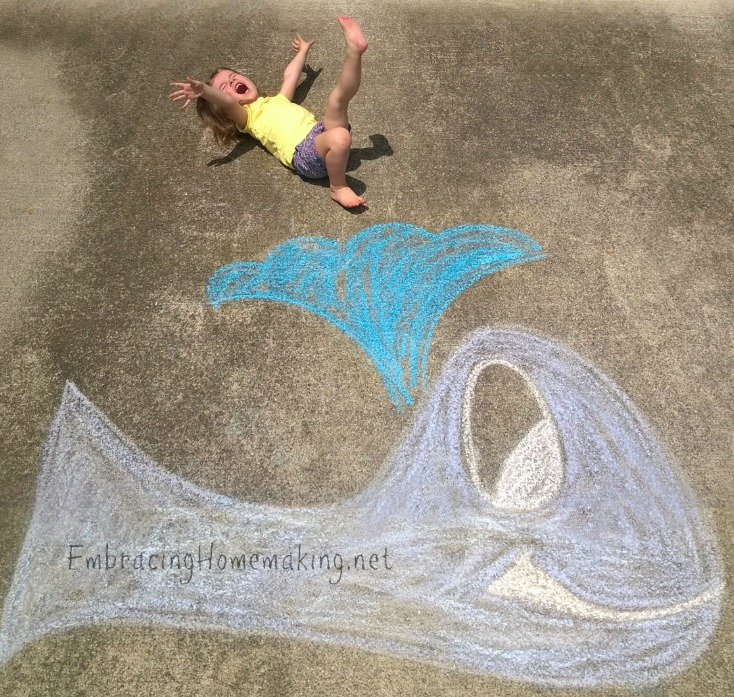 Chalk Drawings with Kids