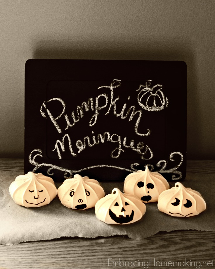 Meringue Pumpkins