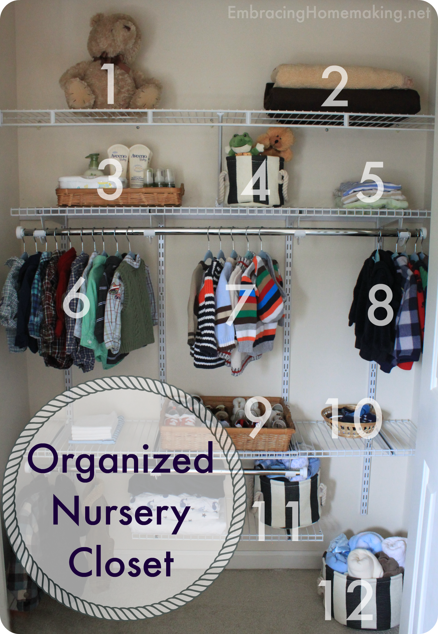 How To Anize A Baby S Closet