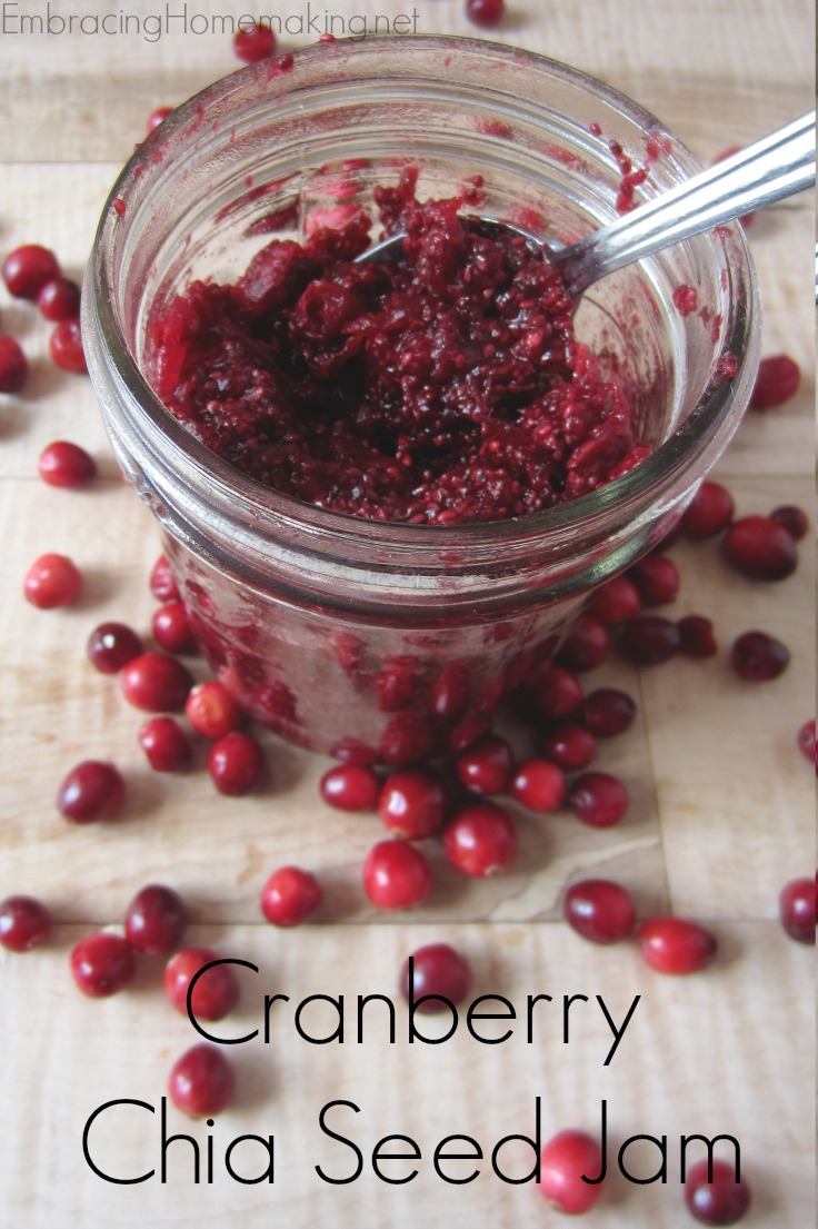 Cranberry Chia Seed Jam Recipe