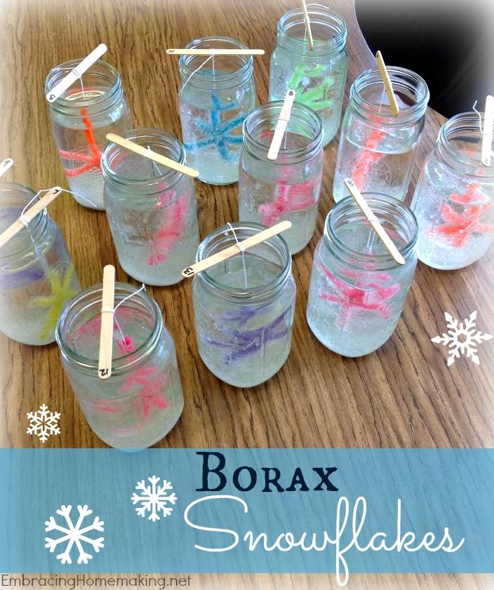 Borax Snowflakes