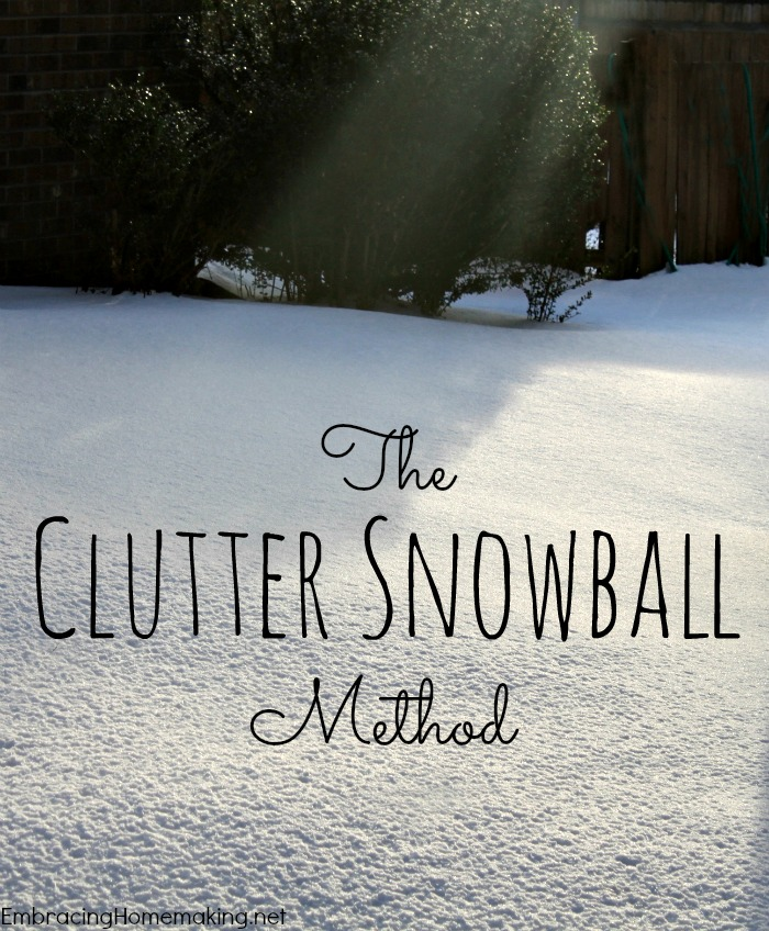 Clutter Snowball - Great idea!