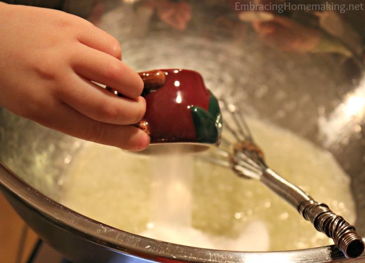 Pouring Sugar
