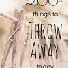 Things to Throw Away