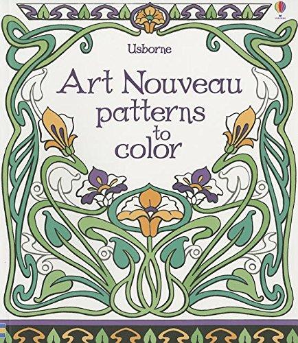 Art Nouveau Patterns to Color