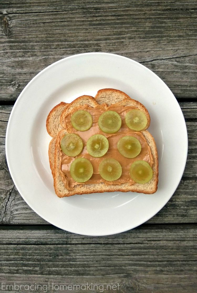 Sliced Grape Sandwich