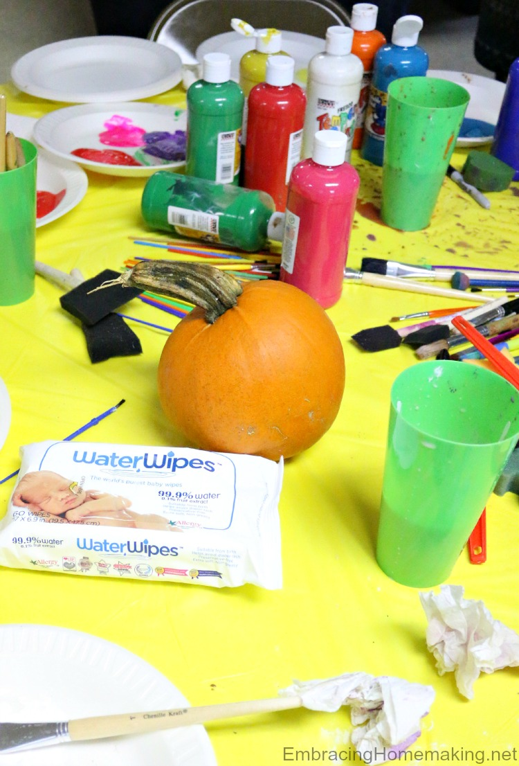 WaterWipes Pumpkin Painting