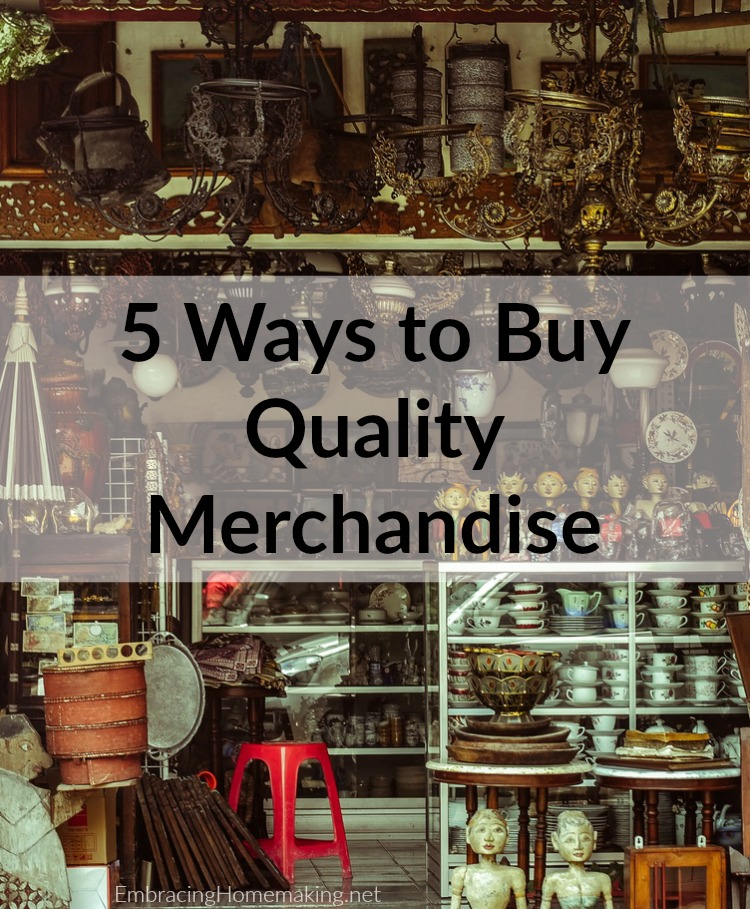 Ways to Buy Quality