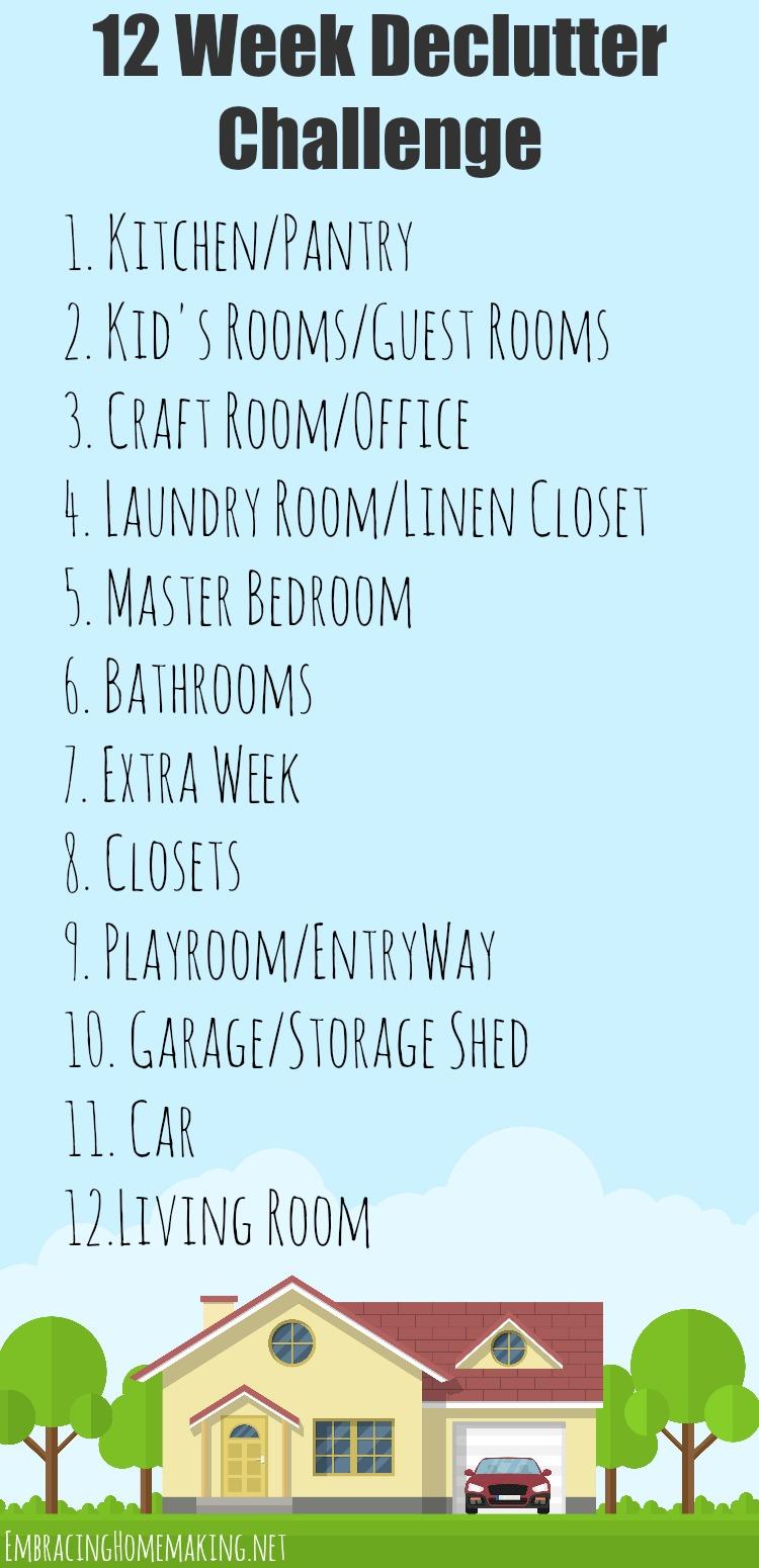 12 Week Declutter Challenge