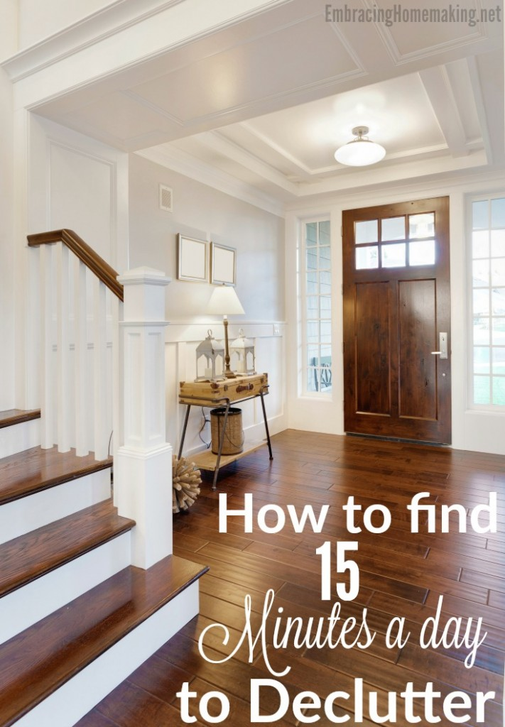 How to Find 15 Minutes a Day to Declutter