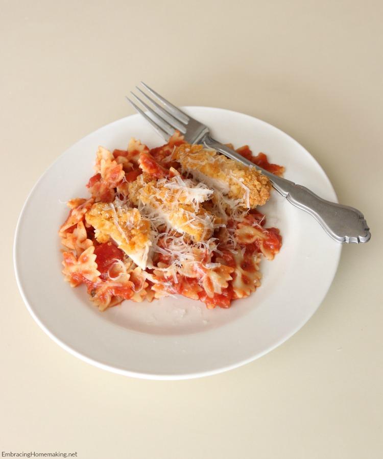 Bowtie Chicken Parmesan