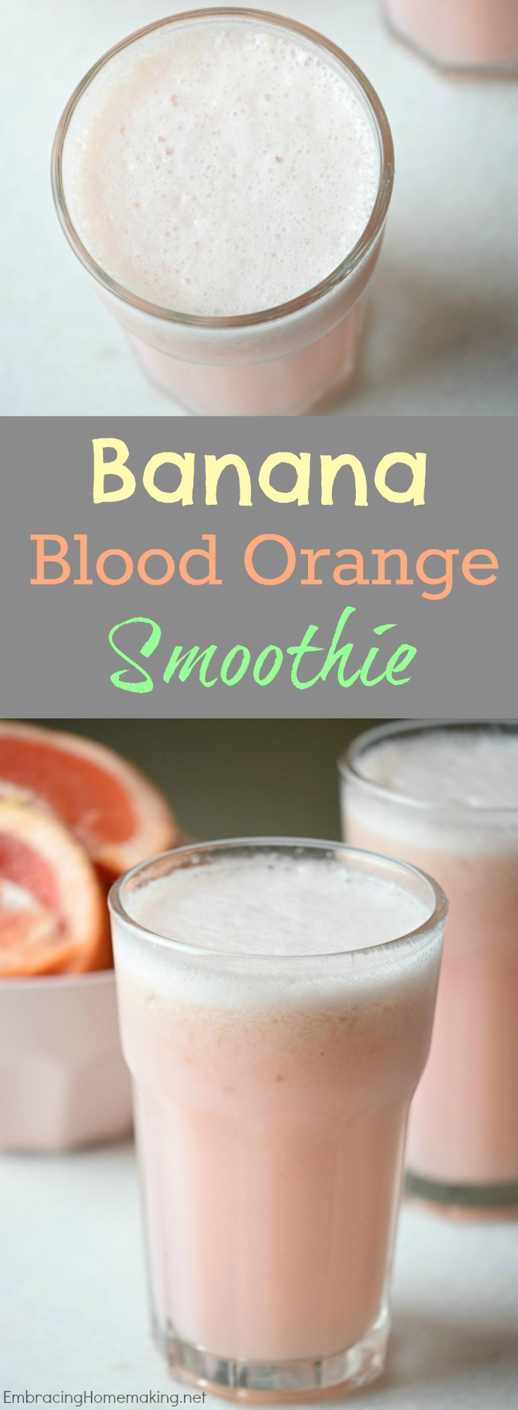 Banana Blood Orange Smoothie Recipe