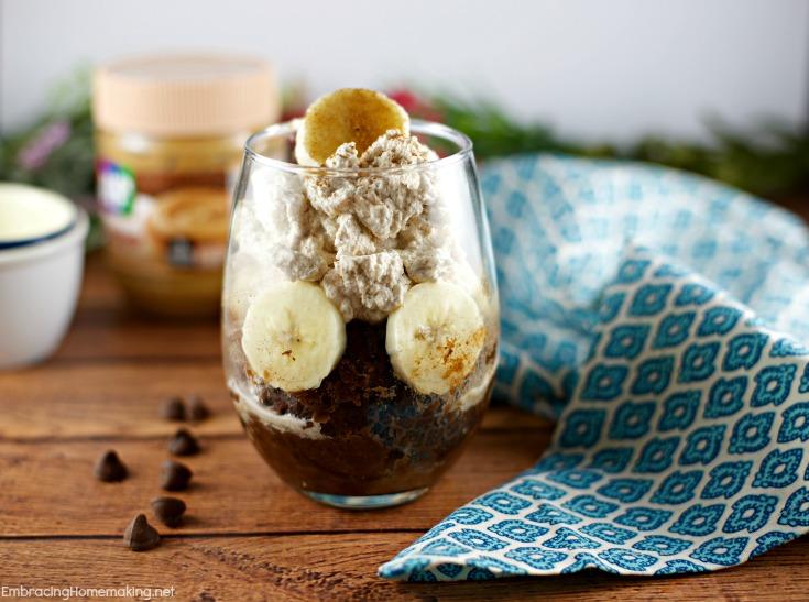 Chocolate Cinnamon Banana Mug Cake