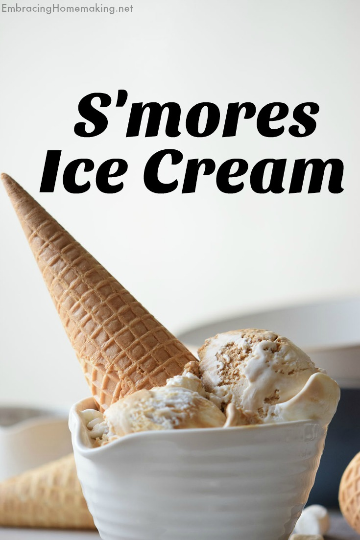 S'mores Ice Cream Cone