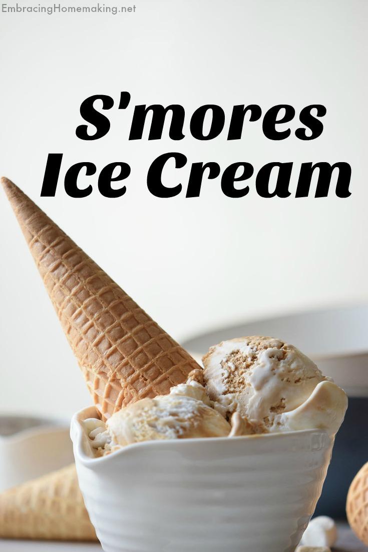 S'mores Ice Cream Cone