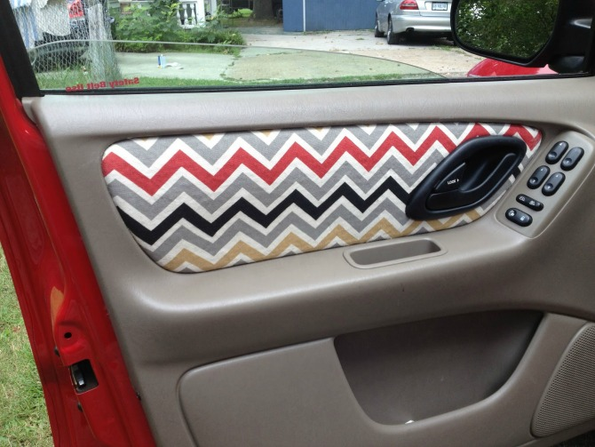 DIY Car Fabric Interior