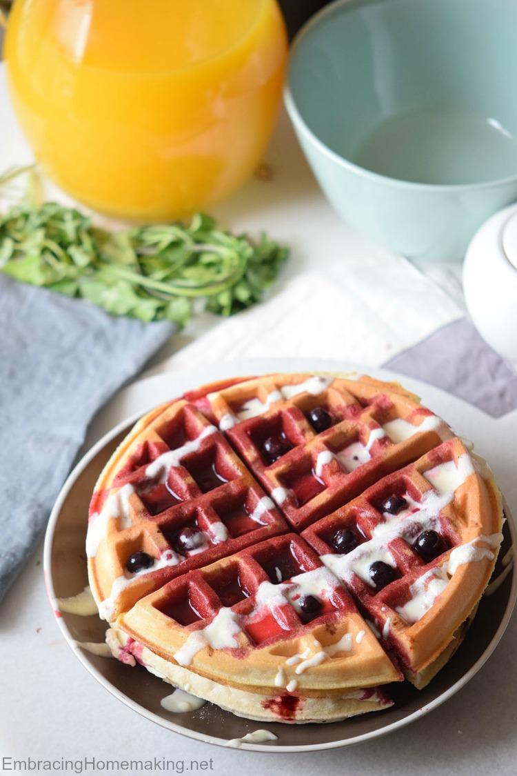 Blueberry Cake Waffles Recipe