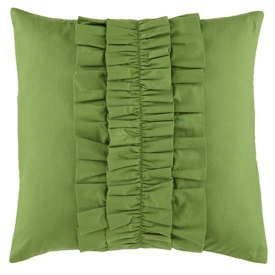 Green Ruffle Pillow