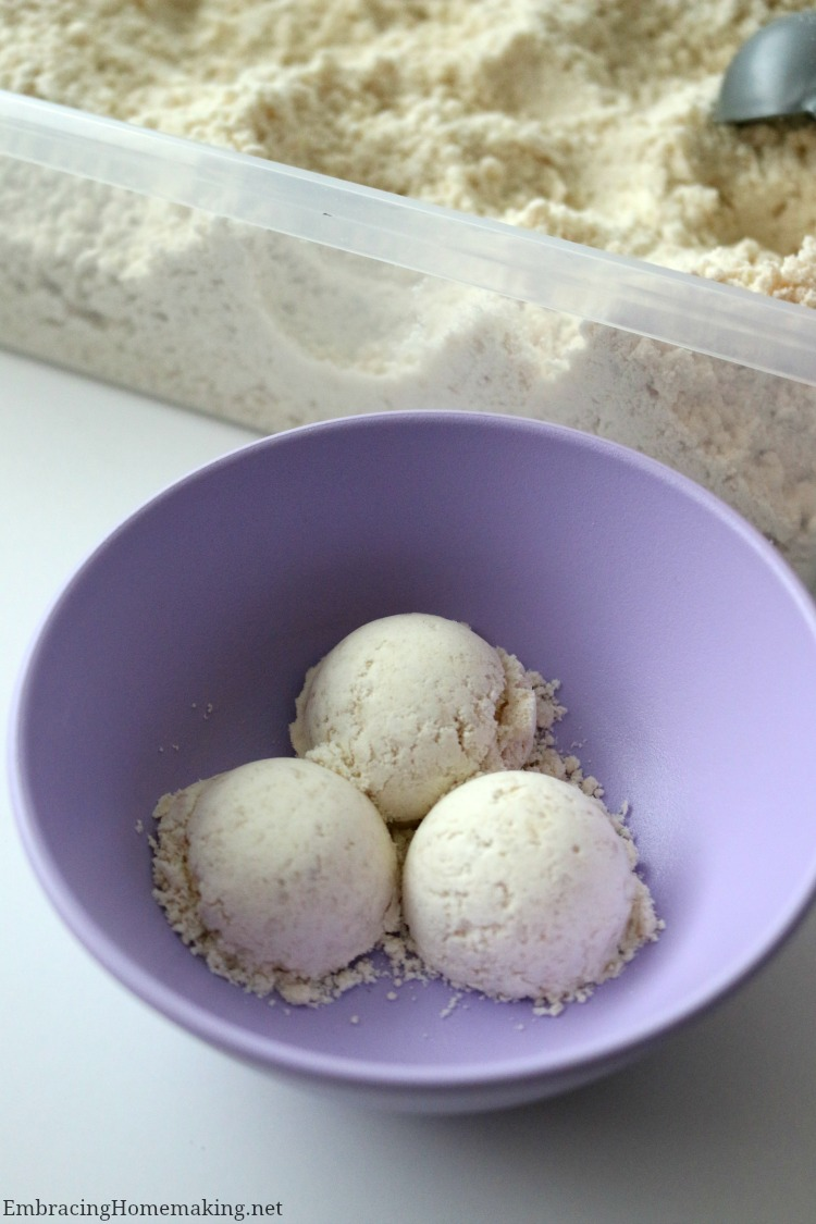 Cloud Dough Ice Cream