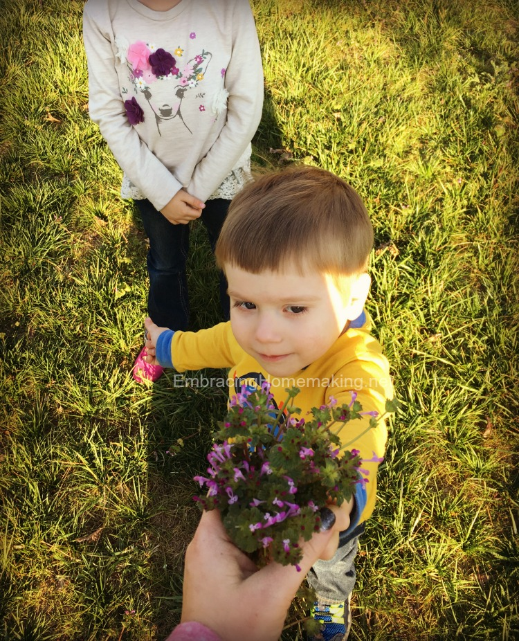 Flowers from kids