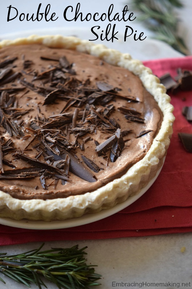 Double Chocolate Silk Pie