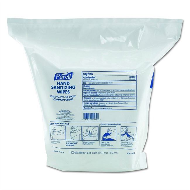 Purell Hand Sanitizing Wipes Set