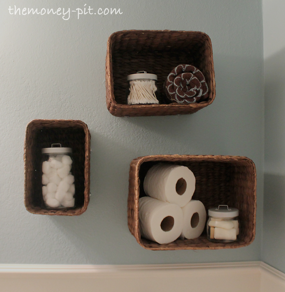 Wall Baskets for Bathroom Storage