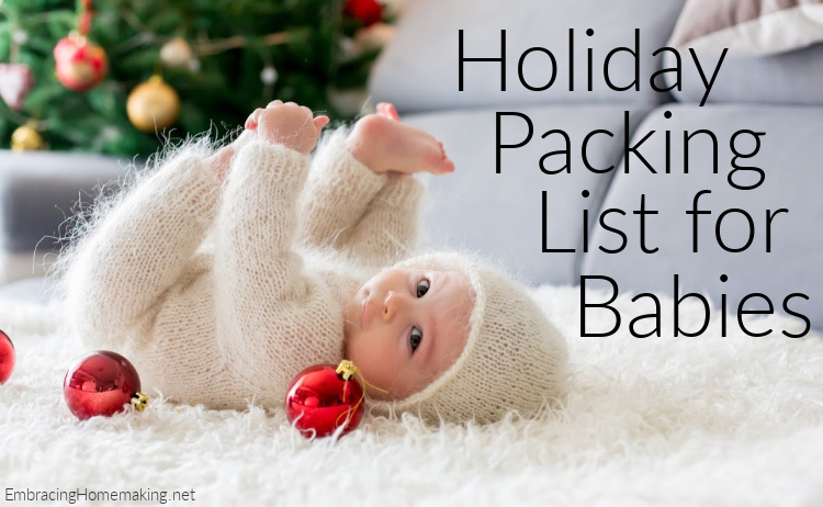 Holiday Packing List for Babies