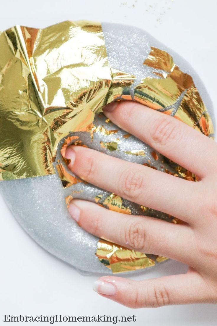 Silver Gold Foil Glitter Slime