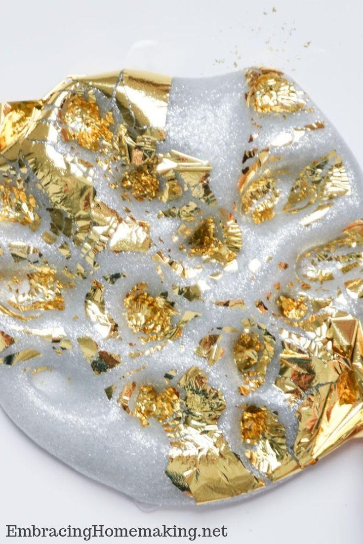 Silver Gold Foil Slime