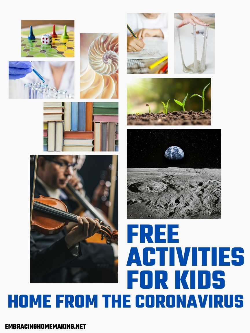 Free Activities for Kids Coronavirus