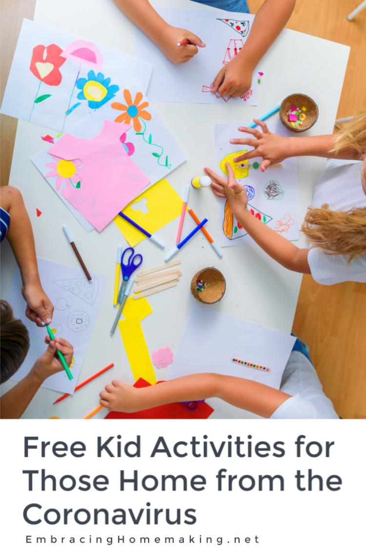Free Kid Activities Coronavirus